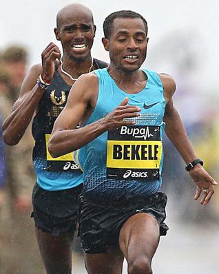 Bekele holding off Mo Farah