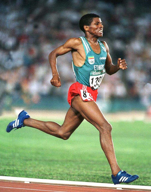 Gebrselassie at the Atlanta Olympics