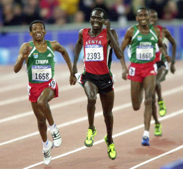 Gebrselassie outsprints Tergat at the Sydney Olympics