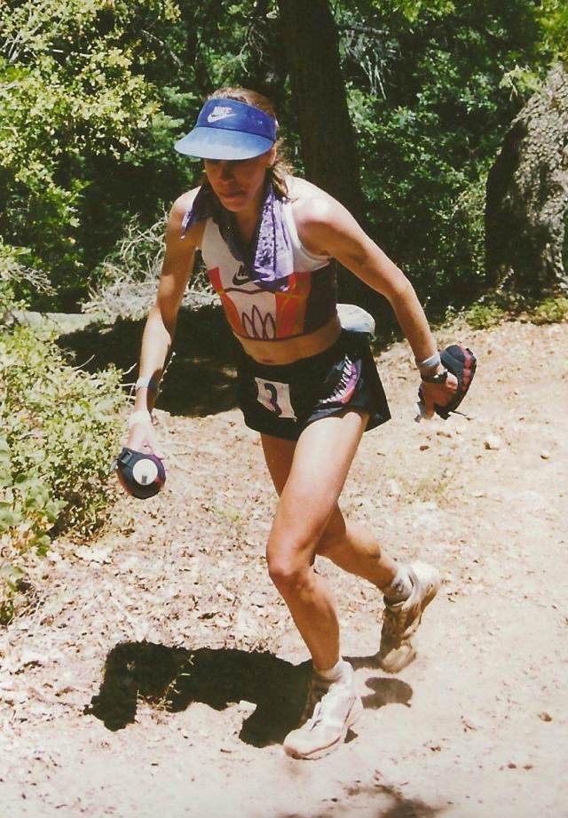 Ann at Western States in 1994