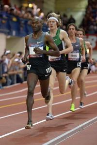 Bernard Lagat and Evan Jager