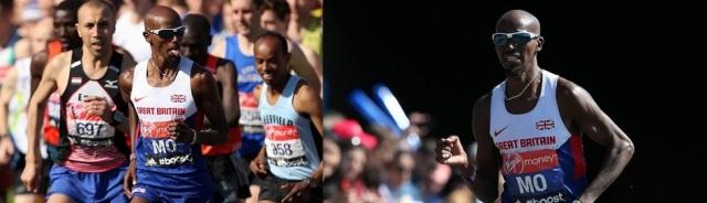 Mo Having Fun During The London Marathon/ Mo Not Having Fun During The London Marathon
