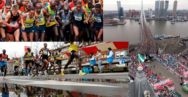 ABN AMRO Marathon 2013 Start Michel Butter Foto ; pim Ras