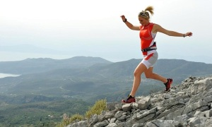 Anna Frost en route to a course record in 2012
