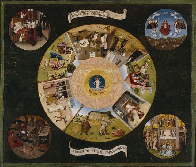 The Seven Deadly Sins and the Four Last Things by Hieronymus Bosch