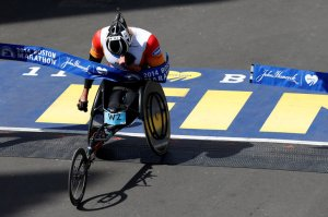 Ernst van Dyk (ten-time winner of the Boston Marathon) photo credit: Greg M. Cooper (USA Today)