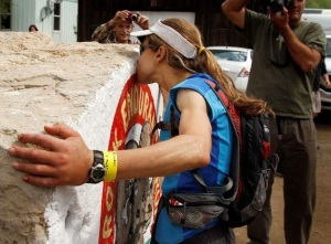 Diana Kissing the Hardrock in 2011 photo credit: Durango Herald
