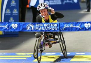 Tatyana McFadden (in 2013, she won the Boston, Chicago, London and New York marathons)