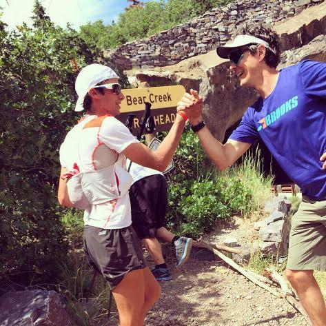 Kilian Getting Some Love From Scott Jurek photo credit: Scott Jurek