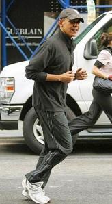 Barack Obama Jogs