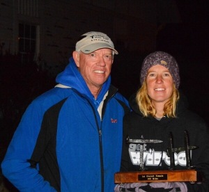 Steve Durbin (race director) and Traci Falbo photo credit: Mike Howard
